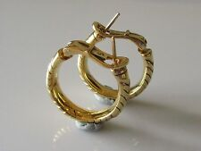 18 Carat Yellow Gold Hoop Clip - On Fine Earrings