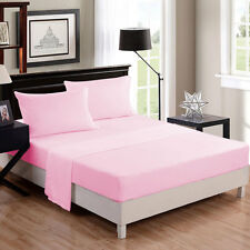 TWIN SIZE USA BEDDING COLLECTION SOLID 1000 TC EGYPTIAN COTTON ALL COLORS & ITEM