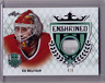 ED BELFOUR 17/18 Leaf Masked Men Enshrined EMERALD PATCH #4/5 3-color RARE Card