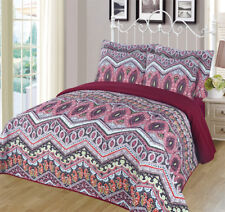 6-piece Super Soft Queen Size Pinsonic Quilted Reversible Bedspread Set - Ava