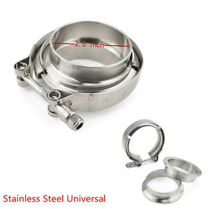 2.5'' SS304 Stainless Steel V-Band Flange & Clamp Kit For Turbo Exhaust Downpipe