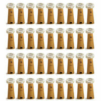 Lot 10/20/50 20Leds Cork Shaped String Starry Light Bottle Lamp W/battery SD