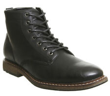 Mens Office Igus Lace Boots Black Boots