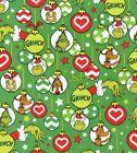 DR SEUSS HOW THE GRINCH CHRISTMAS FAT QUARTER-HALF YARD -FULL YD FREE SHIP