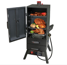 "Landmann USA 34"" Smoky Mountain Two Drawer Vertical Gas Smoker NIB 3495GLA"