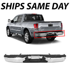 NEW Steel - Chrome Rear Step Bumper Assembly for 2004-2014 Nissan Titan W/ Park