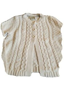 Lands' End Girls Cable Sweater Size Medium 10-12