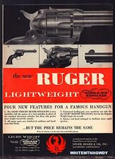 1957 RUGER Single-Six Revolver Vintage Gun AD Firearms Advertising