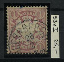 BAVARIA BAYERN 1885 MiNr. 53xaI Used CV€25.00 Promo