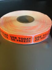 Use Today Or Freeze Labels 1000 Per Roll Great Stickers