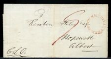 1848 =PAID= Fredericton to Hopewell several backstamps BEND OF...Canada cover