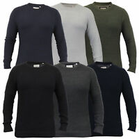 Mens Jumper Brave Soul Knitted Sweater Pullover Top Waffle Casual Winter New