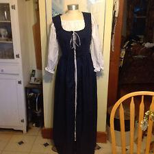 renaissance handmade dress & chemise BLUE many sizes theater quaility