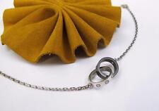 "CARTIER LOVE Circle Women's Bracelet 18k White Gold & Black Ceramic 6.5"""