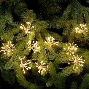 Festive 200 LED Twinkling Starburst Christmas Lights - Warm White