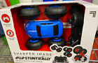 Sharper Image RC Action Remote Car Flip Stunt Rally Blue dual-sided *Brand New*