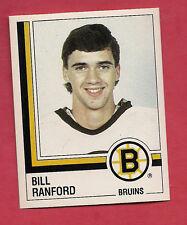 RARE 1987 PANINI # 5 BRUINS BILL RANFORD ROOKIE  STICKER   CARD