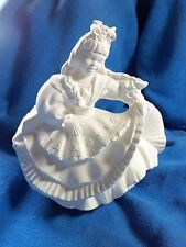 "Ceramic Bisque Irish Girl 5.5"" very detailed St Patrick's Day  Ready to Paint -"