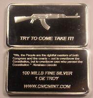 1 oz One Ounce USA 100 Mills Fine Silver....... Try To Come Take IT