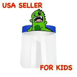 NEW! Dinosaur Kids Boys Girls Face Shield Anti Splash Fog Plastic HD Clear Mask
