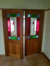 FULL SIZE VICTORIAN ART DECO LEADLIGHT DOORS