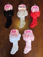 GIRLS BABY TODDLER TUTU SOCKS SPANISH KNEE HIGH SATIN BOW-SOCK 0-3 3-6 6-12-18