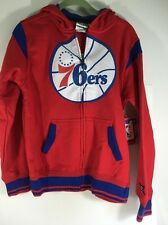 Philadelphia 76ers Zipway Full Zip Hooded Sweatshirt NWT Youth Large