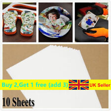 UK~10x A4 Heat Transfer Iron-On Paper For DIY Light & Dark Fabric Cloth T-shirt