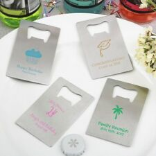 100 Personalized Credit Card Style Bottle Openers Wedding Party Gift Favors