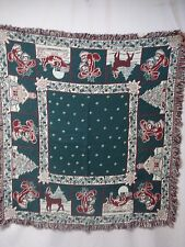 "USA Made NWOT Tapestry Table Cloth 45"" x 48"" Christmas #75Z"