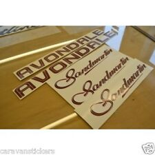 AVONDALE Sandmartin Caravan Stickers Decals Graphics - SET OF