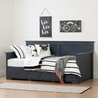 South Shore Summer Breeze Twin Daybed with Storage -, Blueberry, Twin