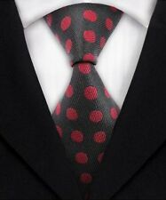 Men's Formal Polka Dot Ties Silk JACQUARD WOVEN Suits Tie Necktie Black Red A321