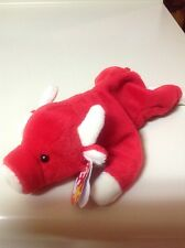 """Ty beanie baby, RARE , """"Snort"""" the bull, retired, very rare, excellent condition"""