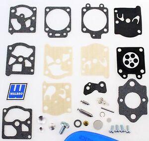 Walbro Carburetor Kit & Mounting Gasket fit WT582 Husqvarna 335XPT 503281903 M18