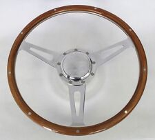 "1969-1993 Buick Skylark GS GT 9 Hole Wood Steering Wheel 15"" Polished Cap"