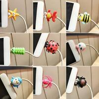 HB- Cartoon Animal Cable Bite Cute Phone Charger Protector Soft Cord Accessories