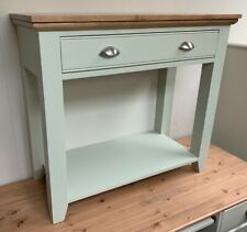 Painted Shaker Console Table 1 Drawer Oak Top in Farrow & Ball Colours