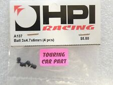 HPI A137 Black Flanged Ball 3x4,7x6 mm (4pcs) vintage RS4 Serie Vintage