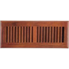 Medium Oak Wood Ducted Heating Air Conditioning Register Vent Cover 100x300mm