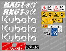 Kubota KX61-3 Ensemble Complet Autocollant Mini Pelle