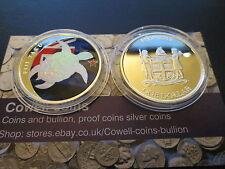 2013 1/2 oz once silver Nouvelle-Zélande Taku colorisées holographique coin 999 RARE