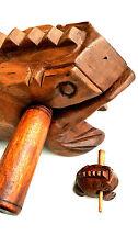 "Wooden Croaking Frog Guiro - 7.5"" 19cm. Handmade Frog Instrument - Precussion"