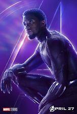Chadwick Boseman BLACK PANTHER MOVIE POSTER 12x18 Photo PRINT AVENGERS MARVEL