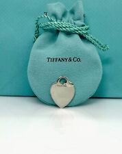 "Tiffany & Co. Sterling silver-Engravable  Heart Charm/Pendant 1x0.75"""