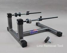 Super Spooler Line Holder/Winder Silver/Black Texture Finish for holding line