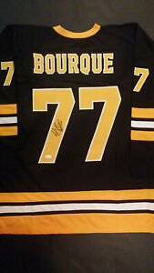 Ray Bourque Autographed Boston Bruins Custom Jersey (JSA Witnessed COA)
