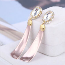 Alexis Bittar Gold & Rose Gold Two Tone Stone Crystal Pave Drop Earrings