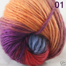 Sale 1Skein x 50gr NEW Hand Knitting Yarn Chunky Colorful Wool scarves shawls 01