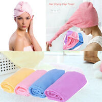 Microfiber Hair Wrap Towel Drying Bath Spa Head Cap Turban Twist Dry Shower 1pc